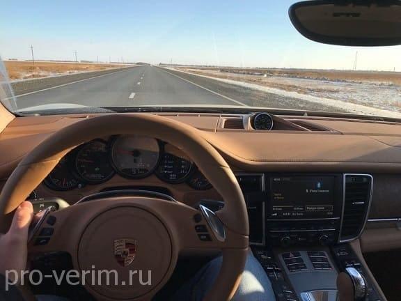Перегон автомобиля Порше Панамера в Казахстан
