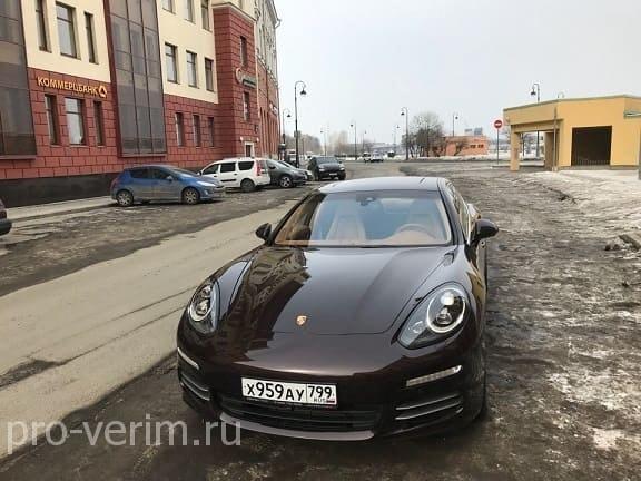 Перегон автомобиля Порше Панамера из России в Казахстан
